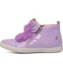 tênis sneaker lilás feminino infantil gats.