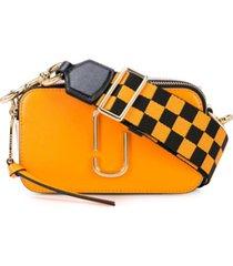marc jacobs bolsa transversal snapshot - laranja