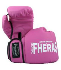 luva boxe muay thai fheras new trade 14 oz rosa .