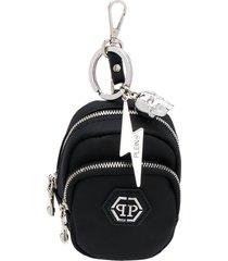 philipp plein key chain bag - black