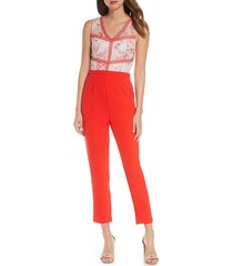 women's adelyn rae miran floral lace bodice jumpsuit