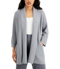 alfani 3/4-sleeve open front cardigan, created for macy's
