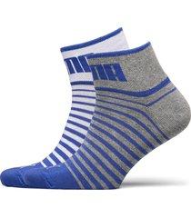 puma unisex quarter 2p underwear socks regular socks blå puma