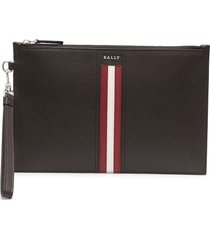 bally teneryl leather wallet - brown
