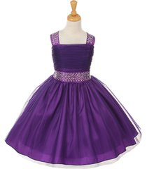 purple tulle flower girl dress bridesmaid pageant party wedding dance birthday
