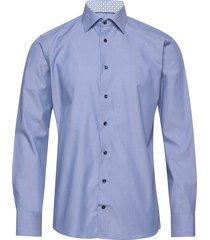 multi paisley poplin shirt skjorta business blå eton