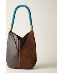 sundance catalog women's original leather tote in brown