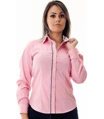 camisa pimenta rosada da mylla
