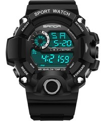 reloj deportivo digital militar sanda 326 hombre negro
