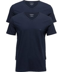 mens knit 2pack tsh t-shirts short-sleeved blå emporio armani