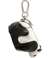 men's loewe leather panda pouch key chain - black
