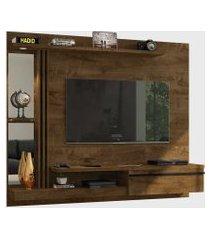 painel denver para tvs até 55 pol. led elétrico madeira rústica móveis bechara