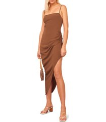 women's reformation mignon ruched sleeveless dress