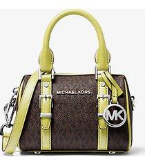 mk borsa a tracolla bedfordlegacy extra small con logo - limelight - michael kors