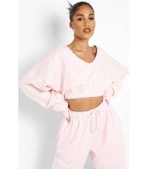 gerecyclede sweater met v-hals, light pink