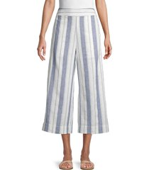 madewell women's huston striped cropped pants - herringbone - size m