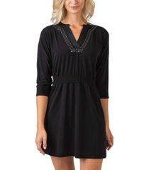 belldini black label metallic studded front dress