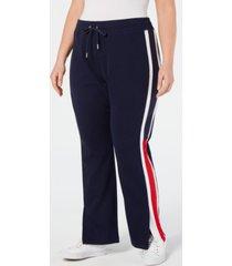 tommy hilfiger sport plus size flag-logo track pants