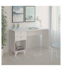 mesa para computador artany sky home office branca