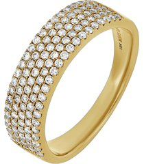 bony levy bardot diamond statement ring, size 7.5 in 18k yellow gold at nordstrom