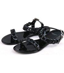 beach shoes candy jellies sandals chain flat flip flops women shoes
