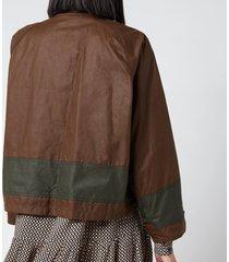 barbour x alexa chung women's patricia wax jacket - patchwork/ancient - uk 14