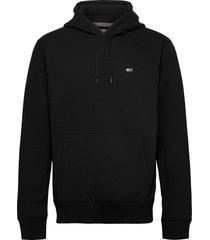 tjm regular fleece hoodie hoodie trui zwart tommy jeans