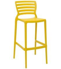 cadeira alta em polipropileno sofia 104,5x49,5x47cm amarela