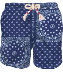 mc2 saint barth blue bandana man swim shorts
