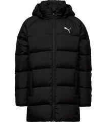 long down jacket g gevoerd jack zwart puma