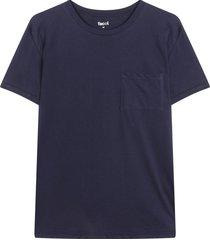 camiseta descanso para hombre color azul, talla l