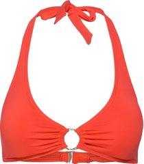 halter top bikinitop orange michael kors swimwear