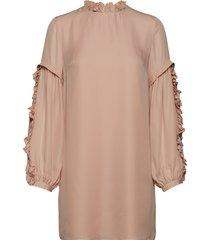 valeria frill sleeve dress blouse lange mouwen roze mayla stockholm