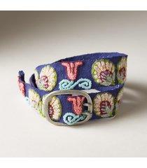 women's ginkgo blossom wool belt