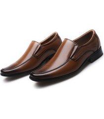 zapatos de vestir oxfords de cuero pu con cordones para hombres