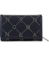 ermanno scervino signature flap wallet w/zip pocket