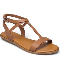 feminine leather flat sandal shoes summer shoes flat sandals brun tommy hilfiger
