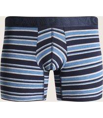 boxer medio para hombre en algodón rayas azul s