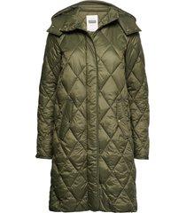 sandrapt otw gevoerde lange jas groen part two