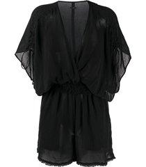 caravana kaayche short-sleeve playsuit - black