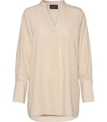 slfpayton ls long top b overhemd met lange mouwen crème selected femme