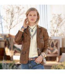 mckenna leather blazer