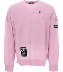 raf simons flowers all-over me oversized sweater
