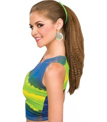 63104 (green/pink) 2 banana clips 1980's hair clips