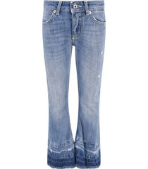 dondup light blue neon girl jeans with iconic d