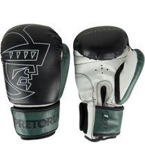 luvas de boxe pretorian first 12 oz - adulto - preto/branco