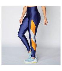 calça legging poliamida blue detail geometric feminina água e luz
