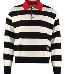 ami alexandre mattiussi long sleeve wool polo shirt