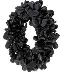 a.n.g.e.l.o. vintage cult 2000s beaded bracelet - black
