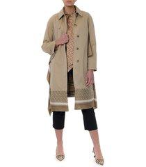 burberry honey cotton silk inserts coat